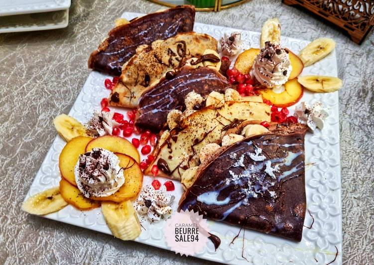 Crêpe vanille et Crêpe chocolat 🍫