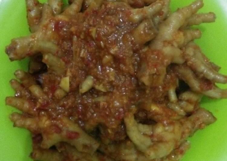 Resep Ceker Jontor Pedas Oleh Indri Sapitri Cookpad