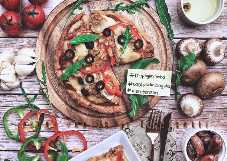 Resepi: Tuna Pizza #PhoPbyLiniMohd versi Ketogenic, gluten-free  Termudah