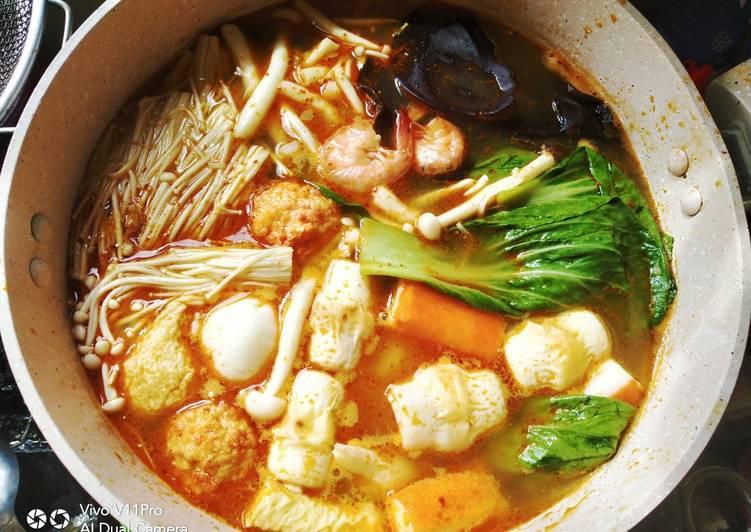 9 Resep: Shabu-shabu kuah tomyam yang Enak!