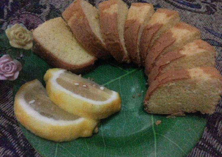 Lemon cake metode all in one baking pan