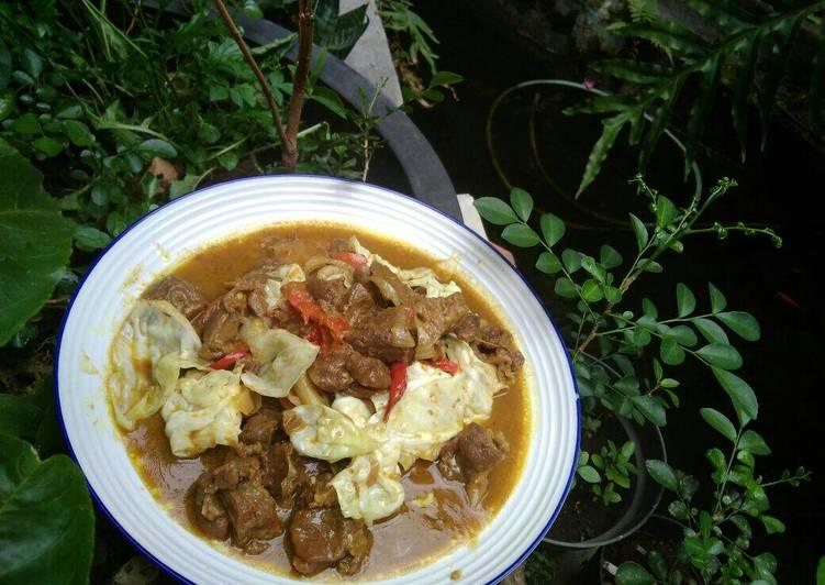 Tongseng kambing pedas