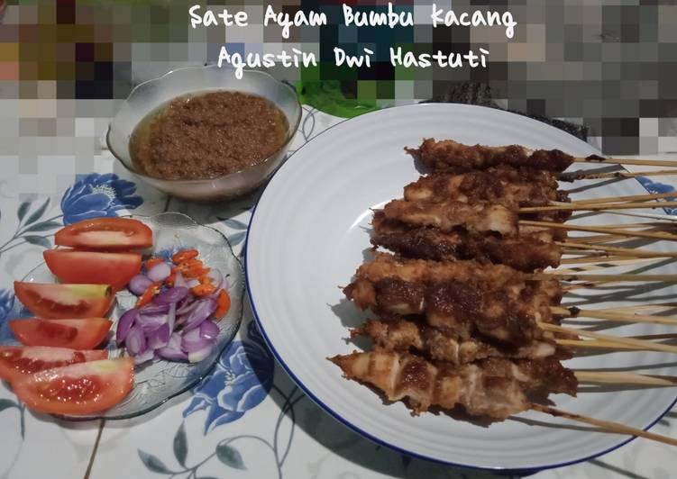 Sate Ayam Bumbu Kacang (aka penjual sate Madura) - cookandrecipe.com