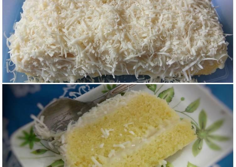 cara menyajikan Bolu susu keju (kukus) - Sajian Dapur Bunda