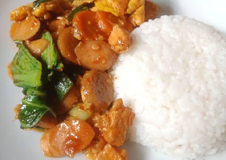 Cara Menyiapkan Nasi Gila Special Sempurna