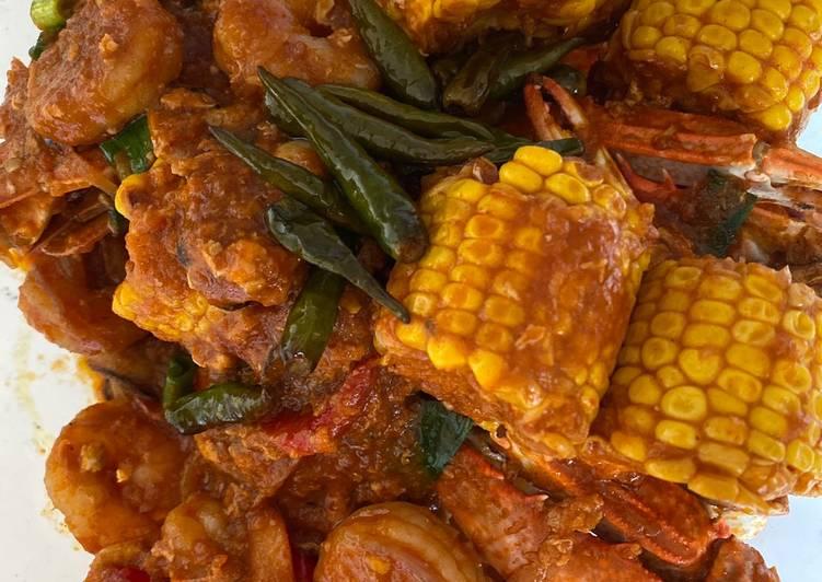 Seafood Sauce Padang (Kepiting)