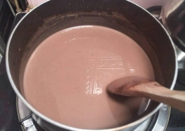 resep cara bikin Vla puding coklat creamy