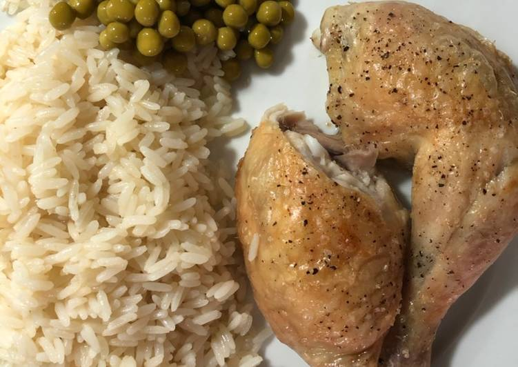 Roasted British Chicken with Rice
