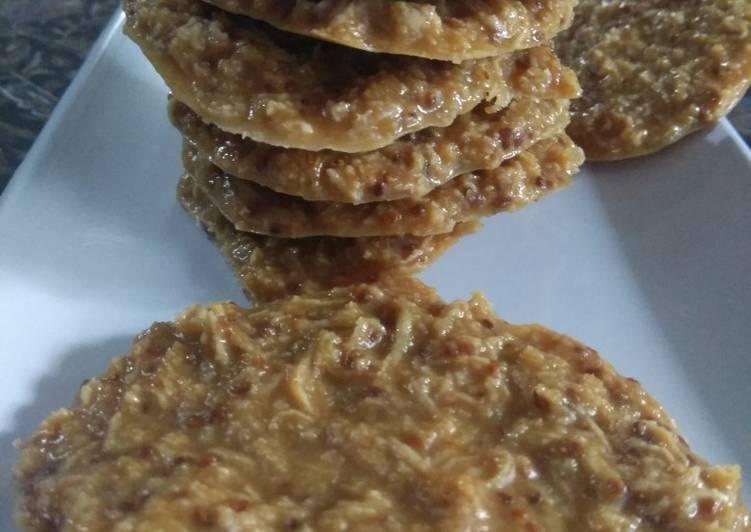 CEMILAN DIET PRAKTIS : Ketogenic Ginger Coconut Cookies