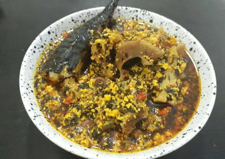 Egusi with bitterleaf soup