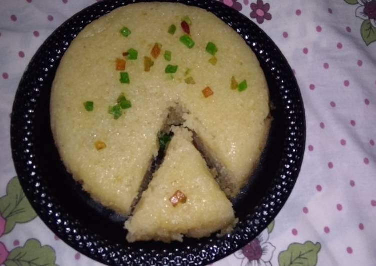Banana suji cake