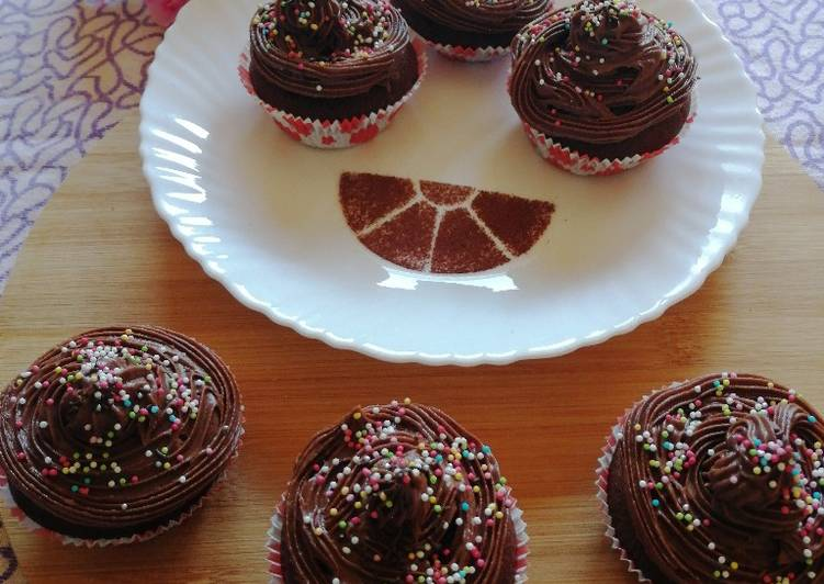 Step-by-Step Guide to Prepare Any-night-of-the-week Chocolate Almond cupcakes