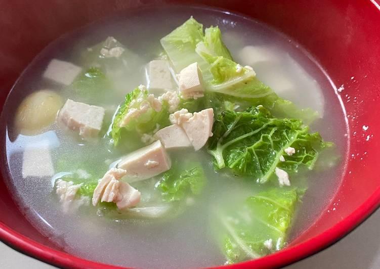 Sup Tahu Sawi Putih
