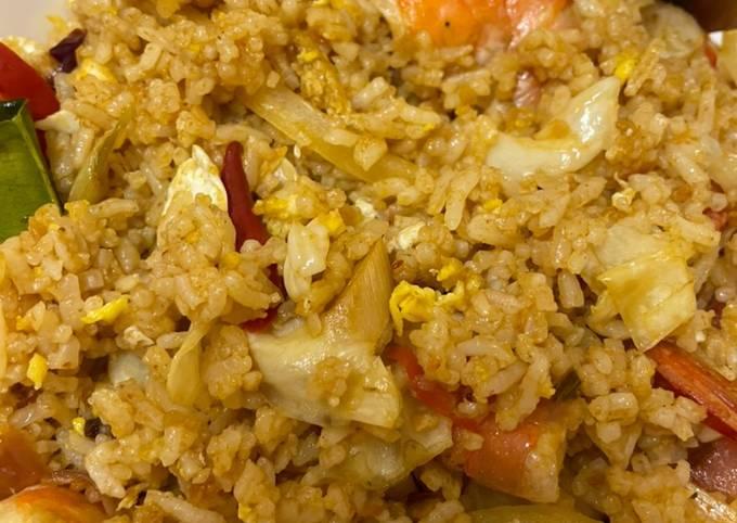 Nasi Goreng Tomyam Ala Kedai Siam