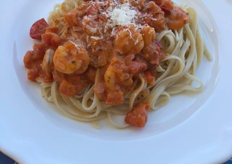 Pikante Shrimps-Pasta 🦐
