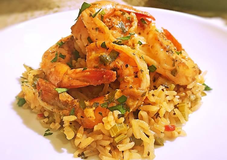 Cajun shrimp and rice scampi