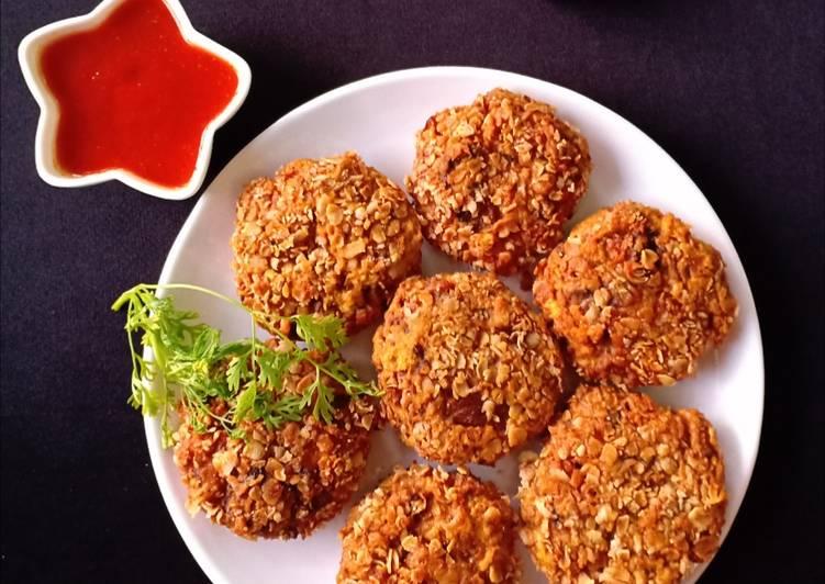 Peri Peri mushroom oats fritters
