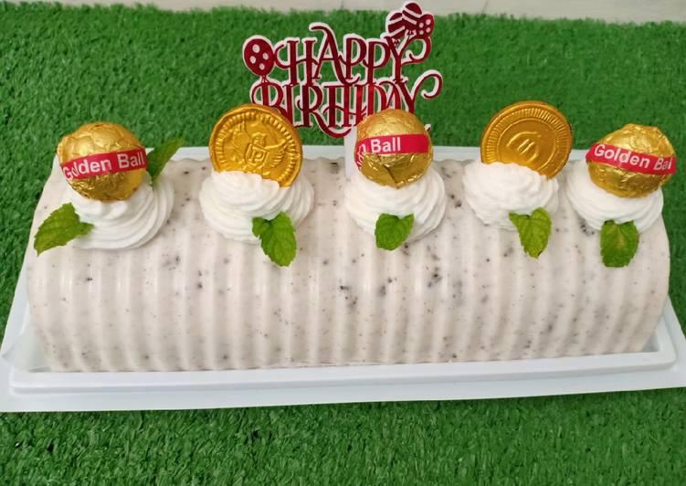 Pudding Busa Coklat Putih Oreo