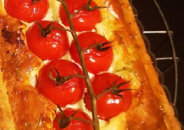 Tarte tomate cerise poulet