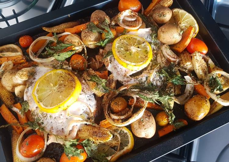 Baked Lemon Fish With Vegetables