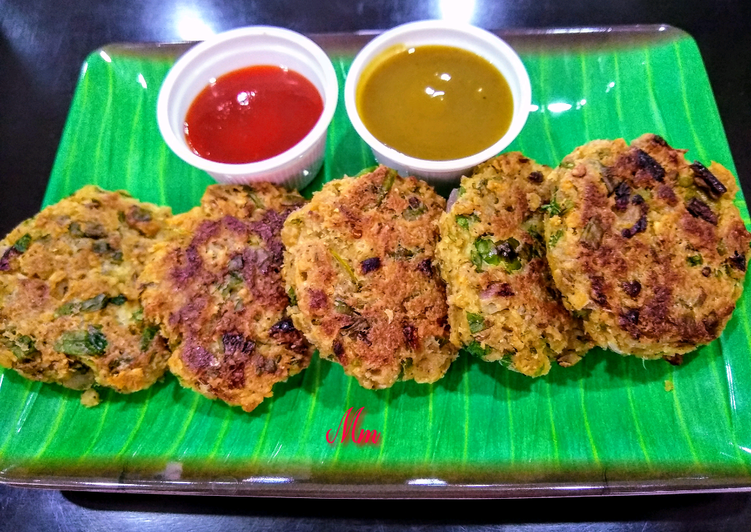 Healthy Oats and Spinach Tikkis