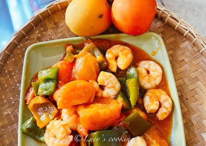 Udang masak sweet & sour