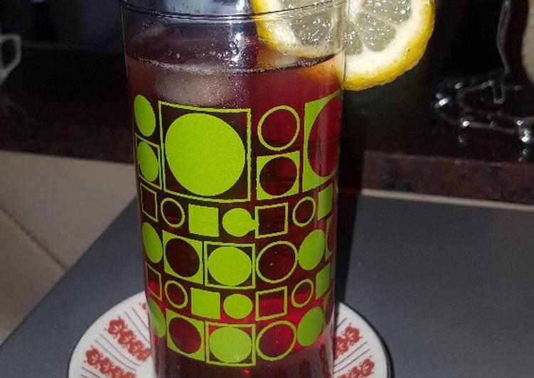 Refresco súper proteico. (Frutilla y limón) de gelatina frutal