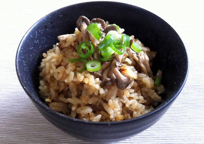 Asian Mushroom Takikomi Gohan