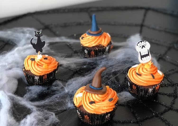 La Recette Pas à Pas Cupcake d'halloween au chocolat