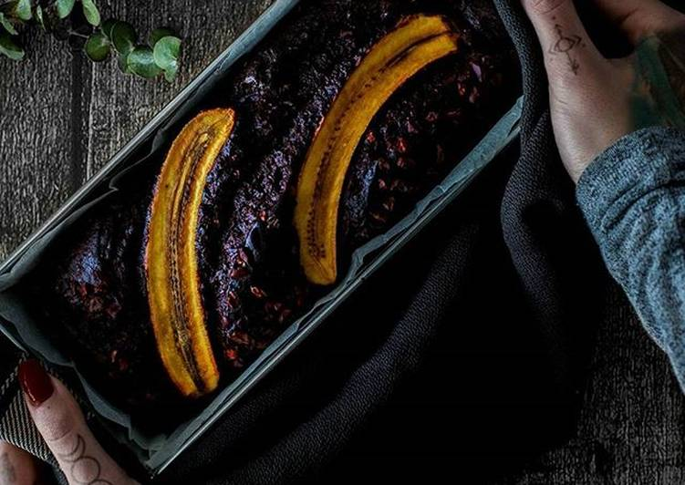 Recipe: Delicious Chocolate PB Banana Bread [Vegan]