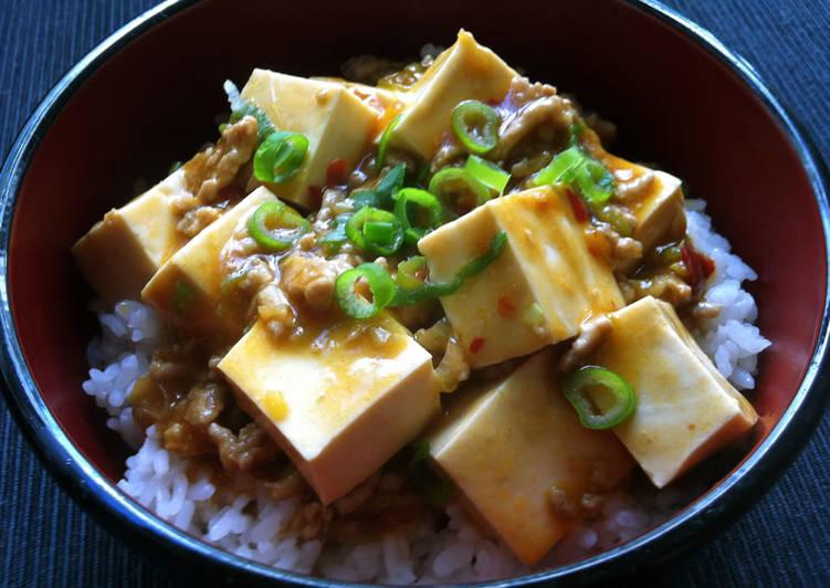 How to Make Super Quick Homemade Mabo Dofu Don