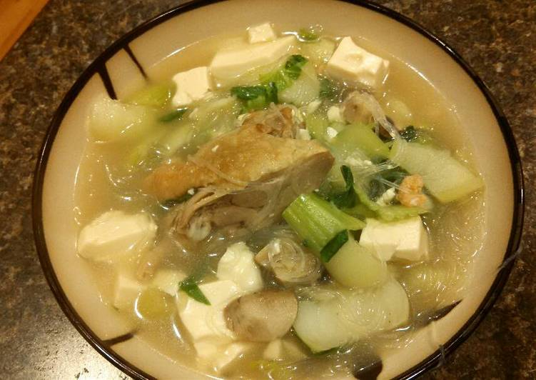The Best Soft and Chewy Dinner Ideas Love Bok choy and silk tofu soup (with duck meat) 青菜豆腐鸭肉汤