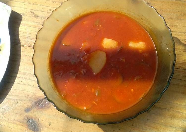 Tomato soup with potatoes #christmas revival