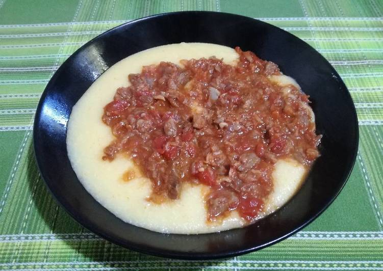 Recipe: Tasty Polenta with stockfish