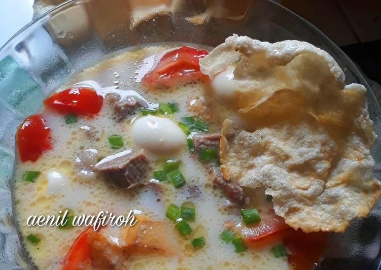 Resep Soto betawi (susu santan) enaaak 😍 Yang Simple Sedap