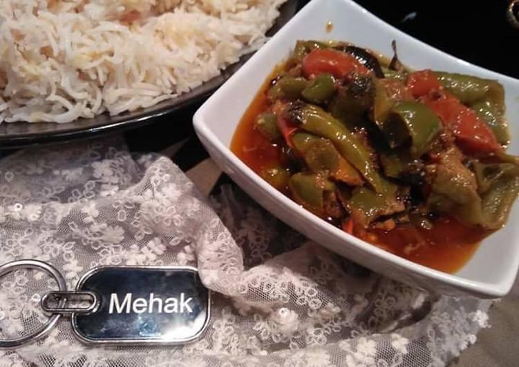Achari shimla mirch Deciding on Wholesome Fast Food