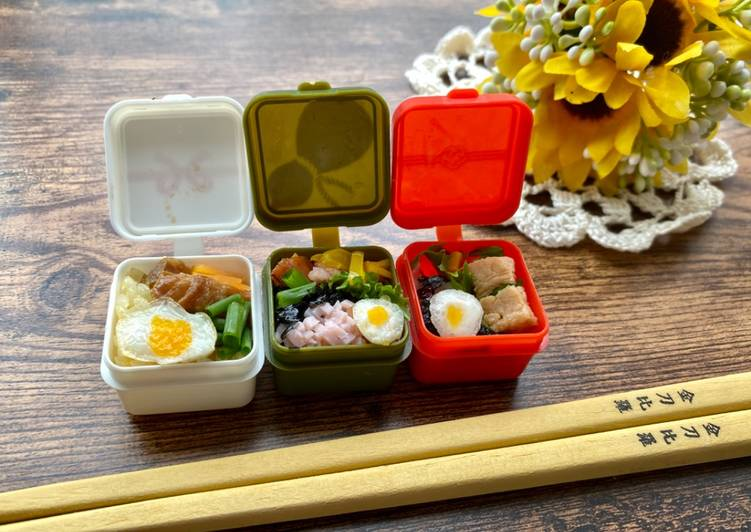 Steps to Prepare Homemade Kawaii (Lovely) Tiny Obento Lunch Box