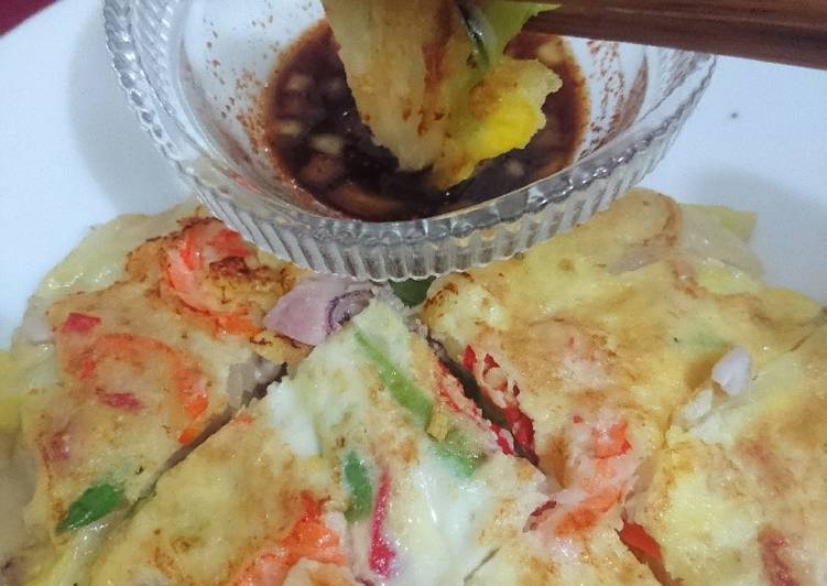 Seafood & Green Onion Pancake - aka Pajeon