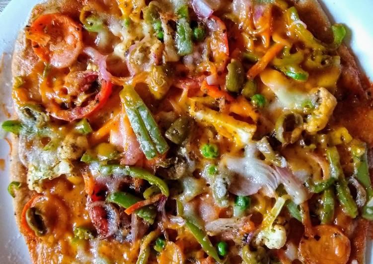 Colourful Veggie Pizza