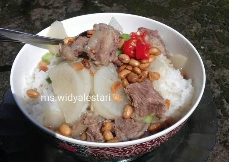 Resep Soto Bandung (daging sapi sandung lamur dan lobak) Yang Populer Enak