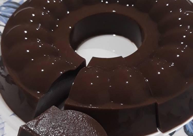 resep cara bikin 57. Puding Coklat Roti Tawar ala Reg's Dish 🍽