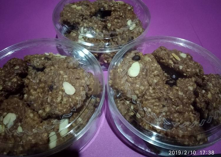 Coffee oats cookies oven tangkring