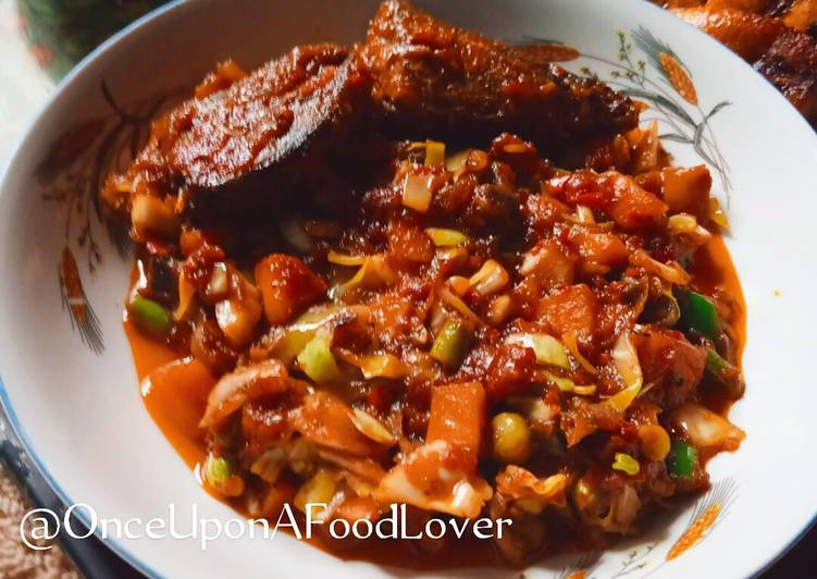 Recipe of Any-night-of-the-week Salad Stew (Revamped Tomato Stew)