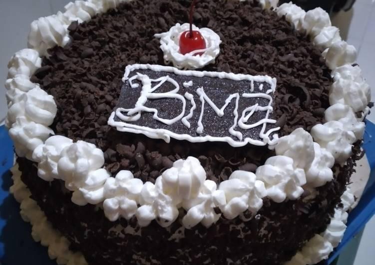 Resep Kue tart hitam manis😘 Paling Mudah