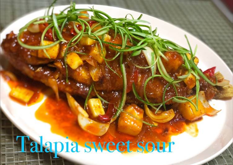 Talapia sweet sour
