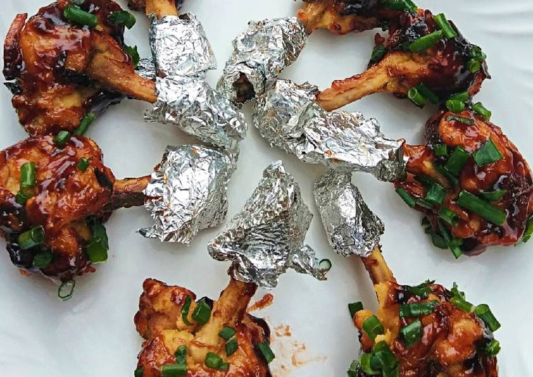 Chicken wings lollipop in BBQ sauce #kidsrecipecontest