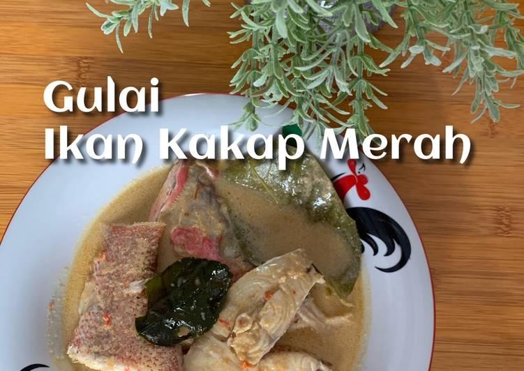 Resep Gulai Ikan Kakap Merah🐟 Yang Simple Lezat