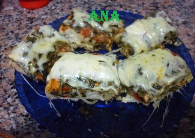 Pizza Con Acelga Y Paleta Cocida Receta De Gringa Cookpad