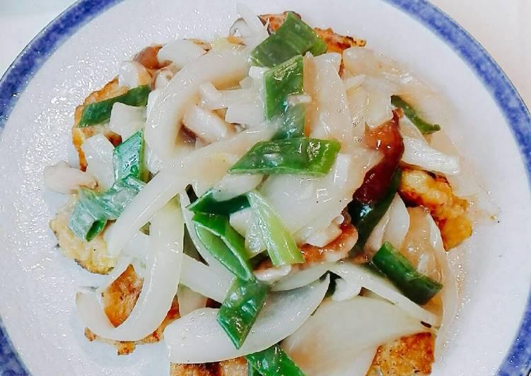 Ayam Koloke telur toping saus bawang minim minyak kaya sayur