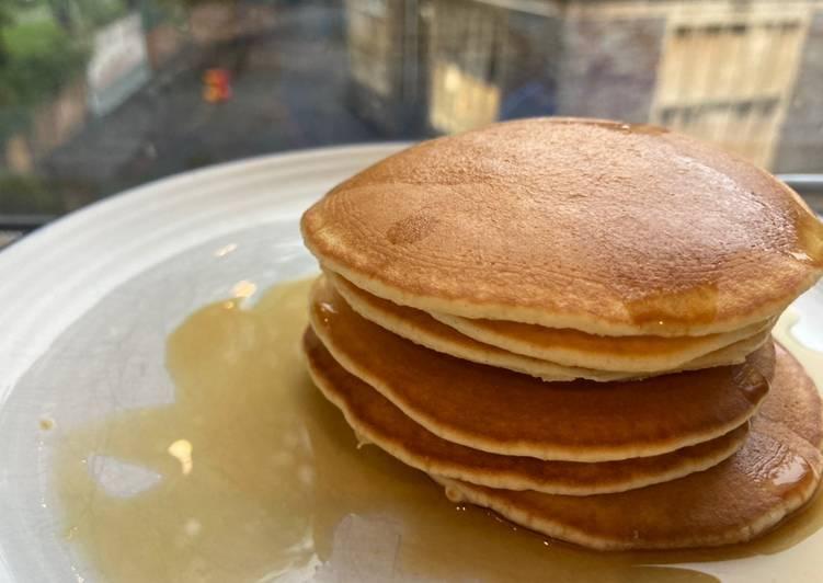 Bikin Pancake dengan tepung self raising flour, mudah dan minim bahan